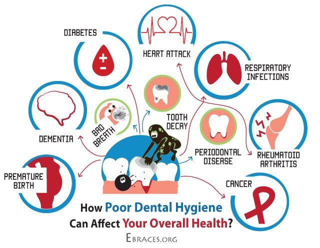 how poor oral hygiene affects your health infographic