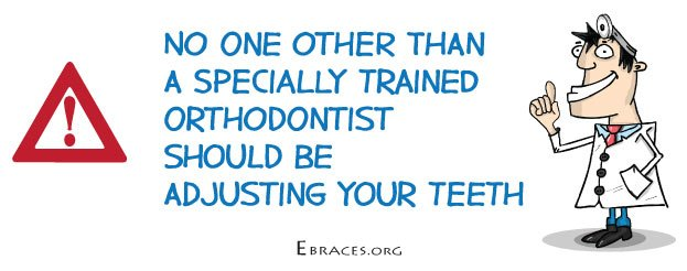 orthodontist adjust braces