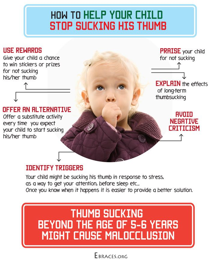how to stop thumbsucking in babies infographic